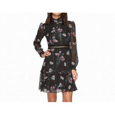 Donna Morgan ドナモーガン ファッション ドレス Donna Morgan NEW Black Womens Size 4 Mock Neck Shimmer Sheath Dress