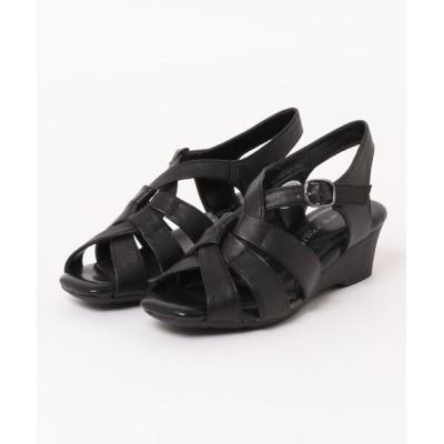 Xti Shoes / 【FELICE FERIE】 本革 クロスデザイン ウェッジサンダル WOMEN シューズ > サンダル