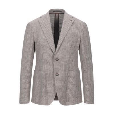 タリアトーレ TAGLIATORE テーラードジャケット ココア 48 コットン 72% / リネン 28% テーラードジャケット