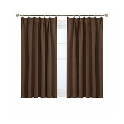 Deconovo 1級遮光カーテン 断熱 遮熱 節電対策 昼夜目隠し 2枚組 幅100cm丈110cm ブラウン