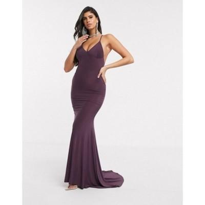 クラブエル ロンドン レディース ワンピース トップス Club L cami maxi dress in purple
