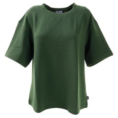 HUITIEMEアウトドアTシャツ 半袖 ジャカード HU20SEG864407OLVオリーブ