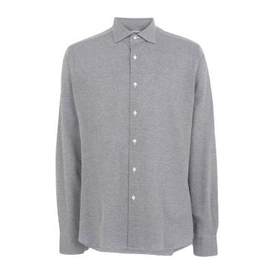カルーゾ CARUSO シャツ グレー 41 コットン 100% シャツ