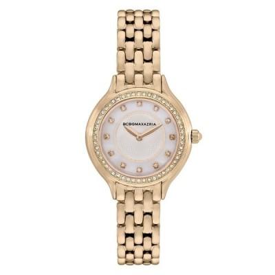 ビーシービージーマックスアズリア 腕時計 アクセサリー レディース Ladies 2 Hands Slim Gold-Tone Stainless Steel Band Watch 34mm Gold-Tone