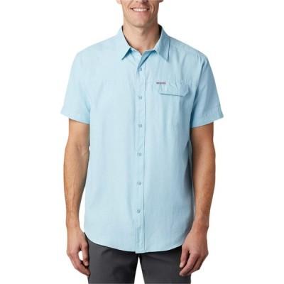 コロンビア Columbia メンズ 半袖シャツ トップス Smith Creek Woven Short Sleeve Shirt Sky Blue