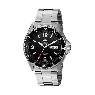 Orient Men's Mako II 41.5mm Steel Bracelet & Case Automatic Black Dial Anal