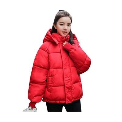 BeiBang(バイバン)ジャケット レディース ショート 中綿ジャケット フード付き 厚手 アウター 綿入れ あったか 冬