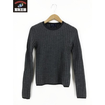 POLO RALPH LAUREN Ribbed Herringbone Sweater[▼]