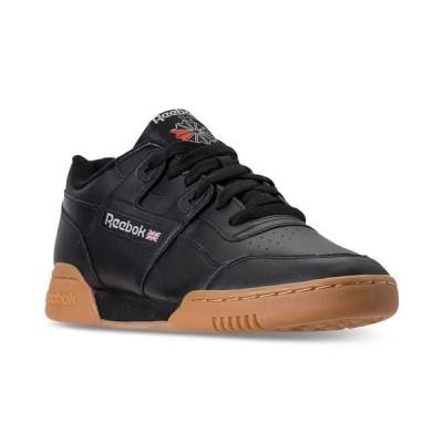 リーボック スニーカー シューズ メンズ Men's Workout Plus Casual Sneakers from Finish Line BLACK/CARBON/CLASSIC RED/