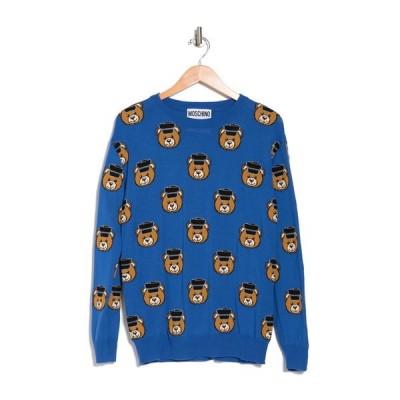 モスキーノ レディース ニット&セーター アウター Bear Printed Wool Knit Sweater MULTI
