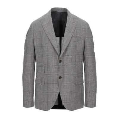 イレブンティ ELEVENTY テーラードジャケット ダークブラウン 46 ウール 71% / シルク 15% / リネン 14% テーラードジャケ