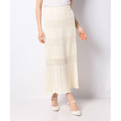 【ウィゴー】 WEGO/透かし編みニットスカート レディース ホワイト F WEGO