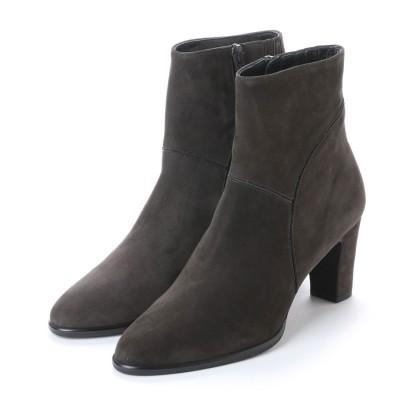 アンタイトル シューズ UNTITLED shoes ショートブーツUT9774 (ダークグレーヌバック)