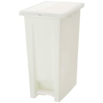 エコン ダストボックス ペダル2枚フタ 70L ゴミ箱 オフホワイト 1個