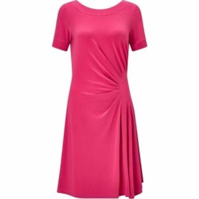 ジュームズ レイクランド James Lakeland レディース ワンピース Vネック ワンピース・ドレス Black V Neck Dress Pink