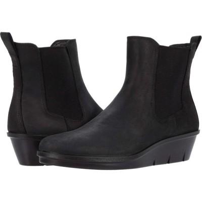 エコー ECCO レディース ブーツ チェルシーブーツ ウェッジソール シューズ・靴 Skyler Wedge Chelsea Boot Black