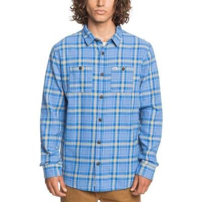 クイックシルバー シャツ トップス メンズ Men's Shadow Sets Flannel Long Sleeve Shirt Blue Yonder