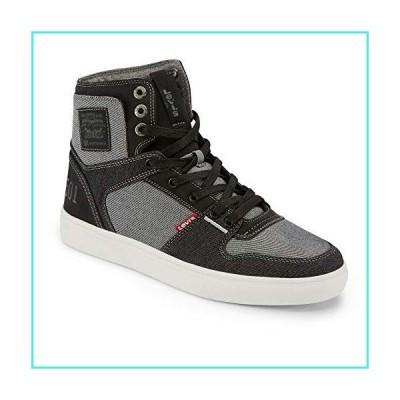 【新品】Levi's Mens Mason Hi 501 Fashion Denim Hightop Sneaker Shoe, Black/Charcoal, 11 M(並行輸入品)