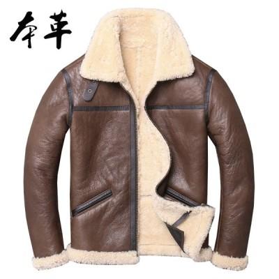 革ジャン メンズ 本革 レザージャケット バイクジャケット ライダースジャケット 裏起毛 ジャケット 革ジャケット 高級羊革 秋冬