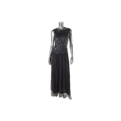 パトラ ドレス ワンピース Patra 2068 レディース パープル Sequined ノースリーブ Formal ドレス Gown 14 BHFO