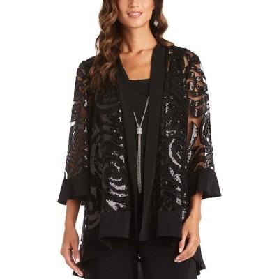 アールアンドエムリチャーズ ジャケット&ブルゾン アウター レディース Necklace Jacket & Blouse Black