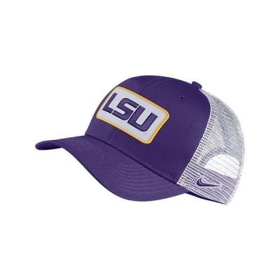 ナイキ 帽子 アクセサリー メンズ LSU Tigers Patch Trucker Cap Purple/White