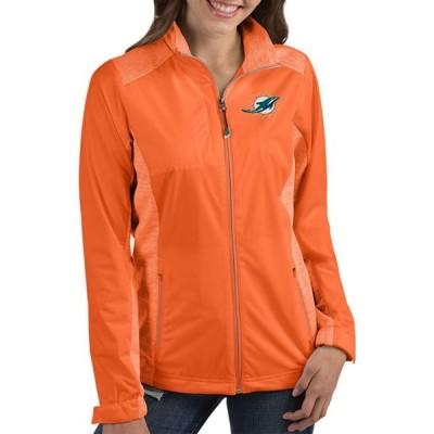アンティグア Antigua レディース ジャケット アウター Miami Dolphins Revolve Orange Full-Zip Jacket