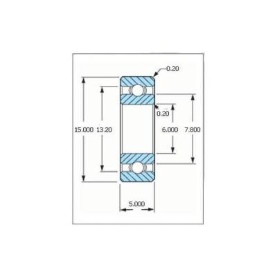 ミネベア ボール・ベアリング DDR-1560X2 オープン ステンレス 6x15x5mm