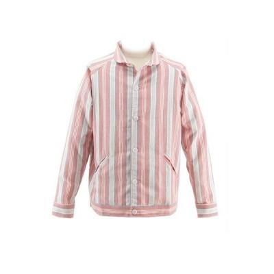 (SALE) LAUNCH BASIC TRADEラウンチベーシックトレード STADIUM SHIRTS JACKETスタジアムシャツジャケットOXFORD STRIPE(オックスフォードストライプ)