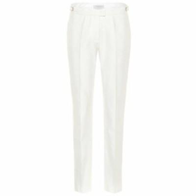 ガブリエラ ハースト Gabriela Hearst レディース スキニー・スリム ボトムス・パンツ Armon mid-rise slim cotton pants Ivory
