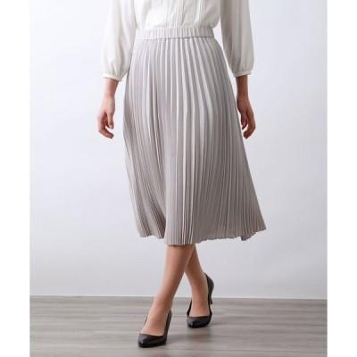 スカート マットボイルプリーツスカート