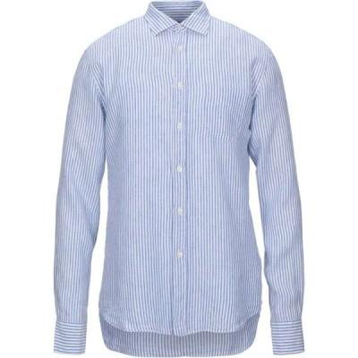 120パーセント 1.2 メンズ シャツ トップス Linen Shirt Azure