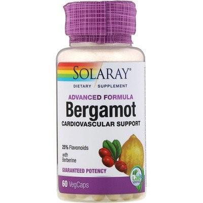 アドバンスドフォーミュラ、ベルガモット、心臓血管系サポート、植物性カプセル60粒