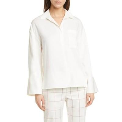 クラブ モナコ レディース シャツ トップス Popover Pocket Shirt ANTQ WHITE