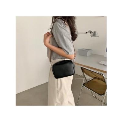 From Beginning レディース ショルダーバッグ Mild Simple Cube Mini Bag