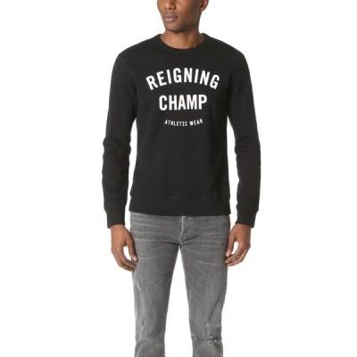 レイニングチャンプ Reigning Champ メンズ スウェット・トレーナー トップス Mid Weight Terry Gym Logo Crew Sweatshirt Black