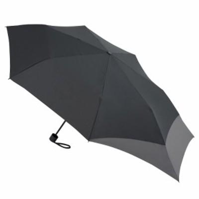 hands+ バックパックを守れる折傘 55cm ブラック×グレー│レインウェア・雨具 折り畳み傘
