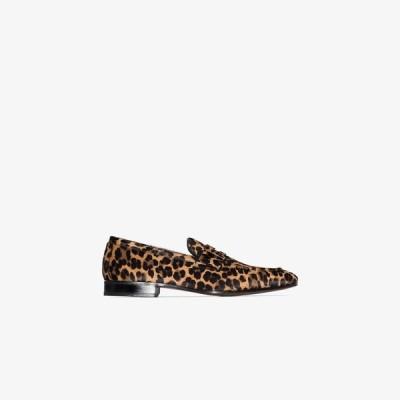 トム フォード Tom Ford メンズ ローファー シューズ・靴 brown Midland Leopard pony hair loafers brown