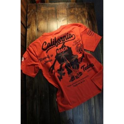 エフ商会 TEDMAN テッドマン TDSS-529 カリフォルニア コットンTee Tシャツ レッド
