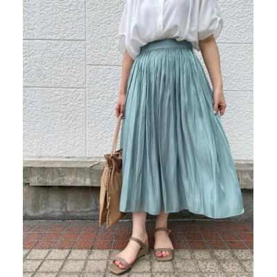 スカート RIVE DROITEの名品 リキッドギャザースカート