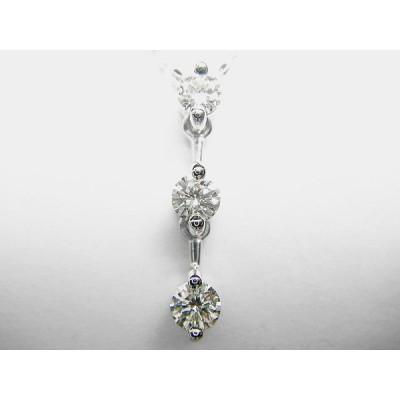 K18WGダイヤ ペンダント ネックレス