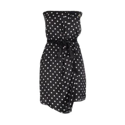 リュー ジョー LIU •JO ミニワンピース&ドレス ブラック 42 シルク 100% ミニワンピース&ドレス