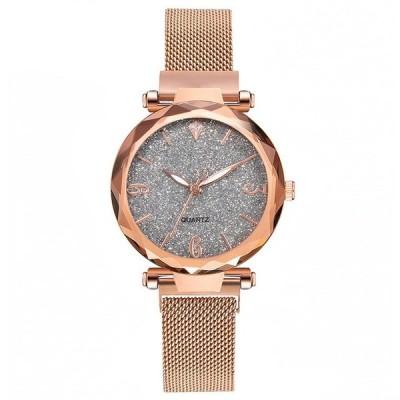女性腕時計 ゴールドグリッターカラー ローズゴールド