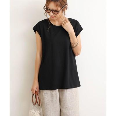 tシャツ Tシャツ 綿ストレッチオーバーサイズノースリーブTシャツトップス