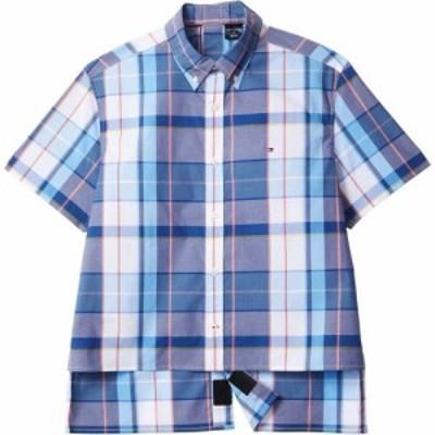 トミー ヒルフィガー Tommy Hilfiger Adaptive メンズ 半袖シャツ Seated Fit Aryes Magnetic Short Sleeve Button Shirt Custom Fit Lit