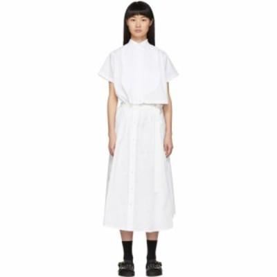 サカイ Sacai レディース ワンピース シャツワンピース ワンピース・ドレス White Cut-Out Shirt Dress White