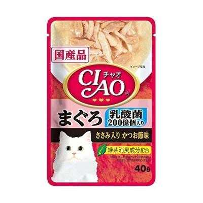 チャオパウチ乳酸菌入りまぐろささみ入りかつお節味40g 《おまとめ6個セット》