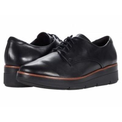 Clarks クラークス レディース 女性用 シューズ 靴 オックスフォード ビジネスシューズ 通勤靴 Shaylin Lace Black Leather【送料無料】