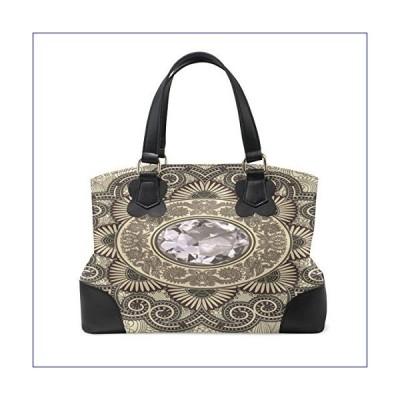 【新品】Womens Genuine Leather Hangbags Shoulder Bags Glyptograph Large Satchel Work Tote Bags(並行輸入品)