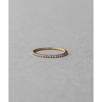 指輪 K18YG ダイヤモンド ピンキーリング